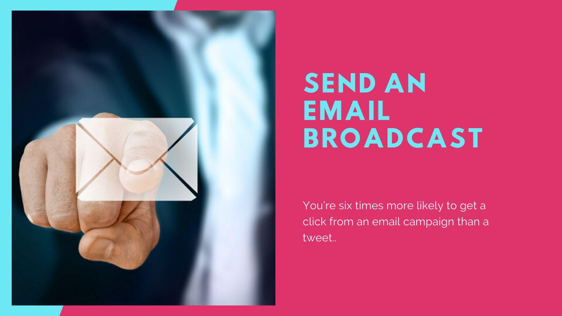 Content - Send an email broadcast