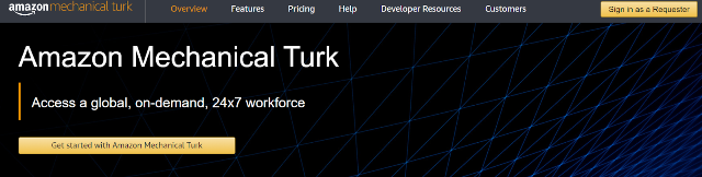 Mechanical Turk Manual and Repetitive Tasks