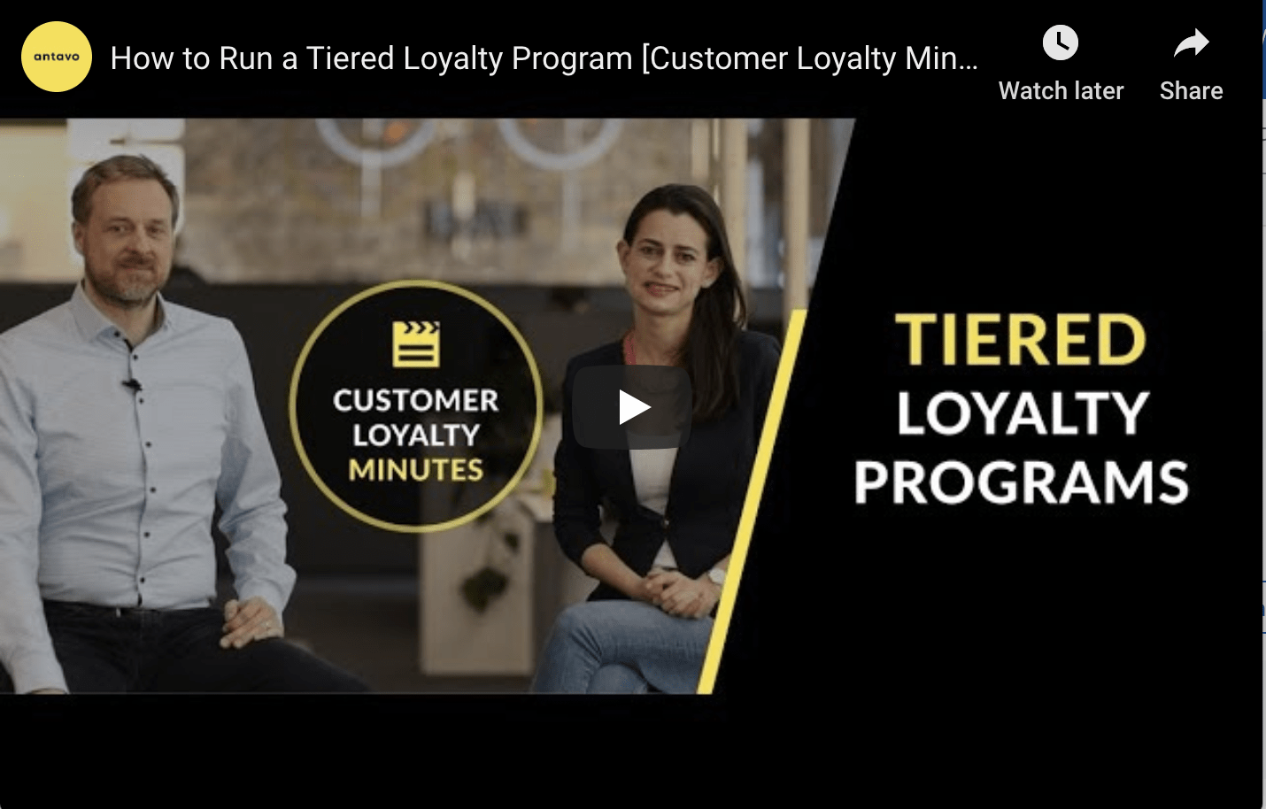 Tiered Loyalty Program